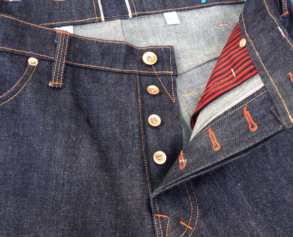 rays raw denim 15.2 oz. Classic Selvedge - Style R101 long john blog handmade one man show raw rigid selvage selvedge cone mills usa blue unwashed 5 pockets belt loops spijkerbroek limited (3)