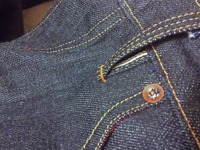 rays raw denim 15.2 oz. Classic Selvedge - Style R101 long john blog handmade one man show raw rigid selvage selvedge cone mills usa blue unwashed 5 pockets belt loops spijkerbroek limited (7)
