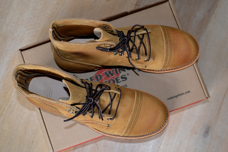 red wing 8113 iron ranger shoes long john blog warenmagazijn online store shop redwing usa handmade goodyear welted brown boots miners workers workwear jeans denim  (16)