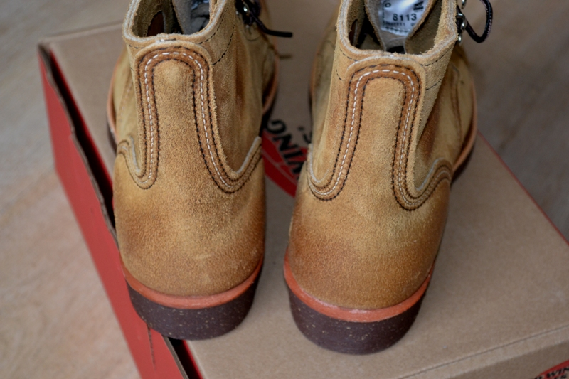 red wing 8113 iron ranger shoes long john blog warenmagazijn online store shop redwing usa handmade goodyear welted brown boots miners workers workwear jeans denim  (19)