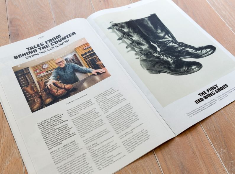 red wing post long john blog boots amsterdam magazine paper krant issue 1 2014 free handmade goodyear welted construction american news paper (5)