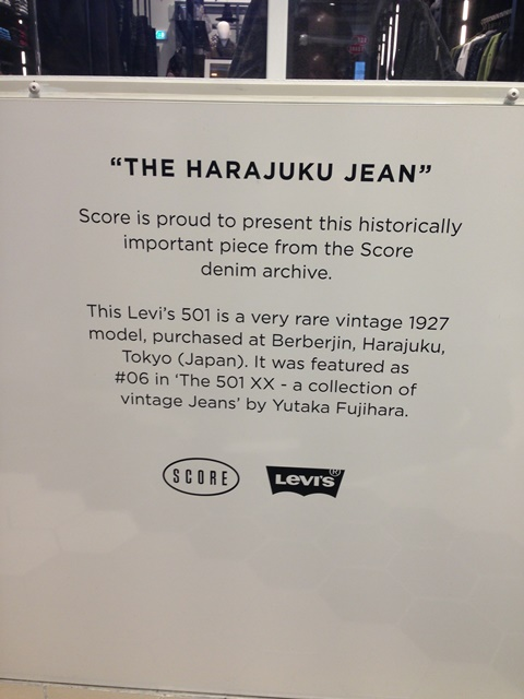 score kalverstraat amsterdam long john blog denim jeans levis levi strauss 1927 501 501XX yutaka fujihara japan tokyo berberjin vintage 2015 collection worn old  (1)