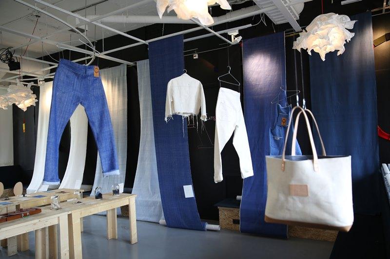 seven senses fabrics handwoven handspun natural indigo kingpins 2016 amsterdam denim days long john blog denim jeans fabrics selvage selvedge (4)