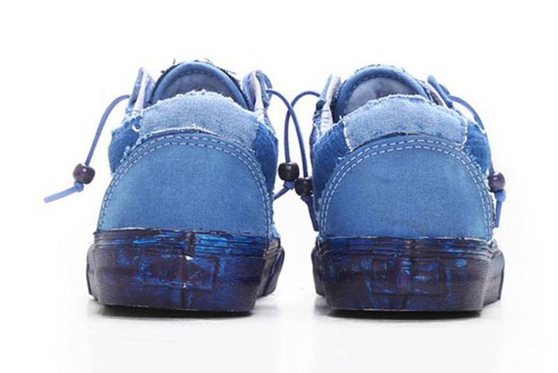 vans c2h4 store collab 2016 summer long john blog special edition blue indigo dyed dip dipping boro sashiko  (2)