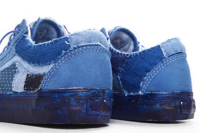vans c2h4 store collab 2016 summer long john blog special edition blue indigo dyed dip dipping boro sashiko  (7)