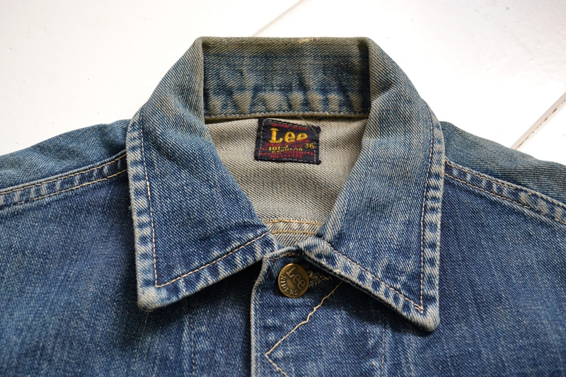 vintage lee 101-J jacket long john blog 1950 original cowboys cowboy jack treasure denim usa us spijkerjas oud 101 golden red label tag buttons denimjack denimhead eye cat  (2)