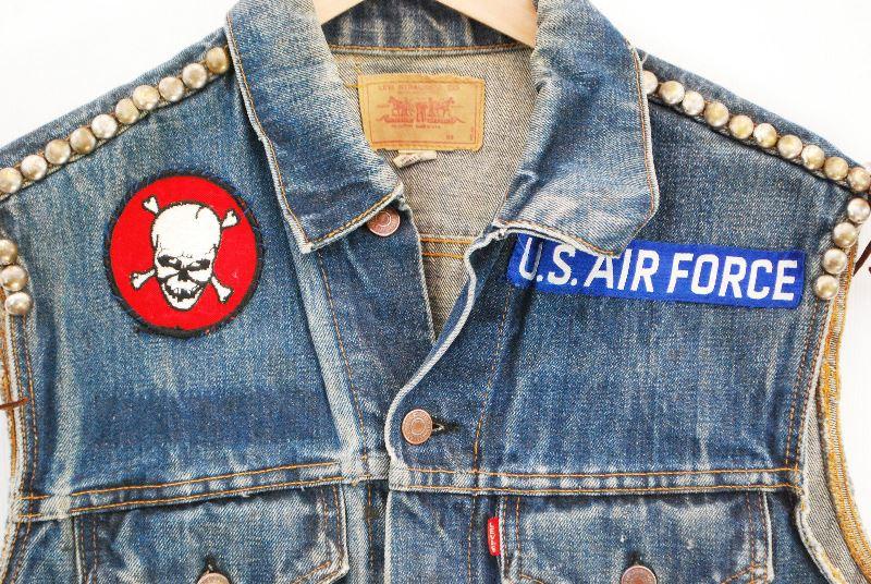 vintage levis big e denim jacket long john  (1)