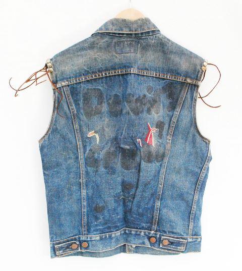 vintage levis big e denim jacket long john  (3)