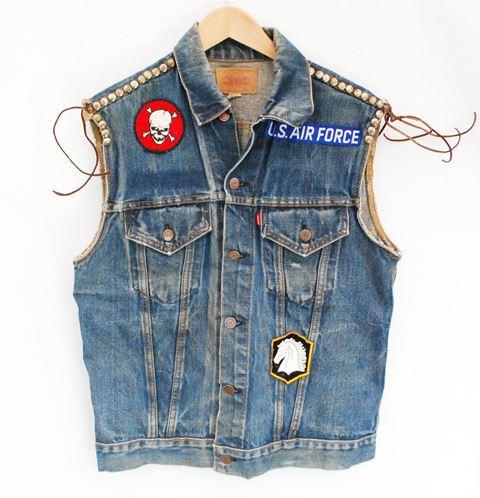vintage levis big e denim jacket long john  (4)