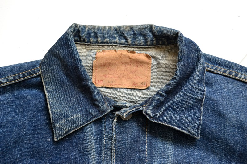 vintage levi's jeans 507XX denim long john blog type 2 original authentic usa american patch workwear rock and roll button #0 selvage selvedge redline worn-out washed (1)