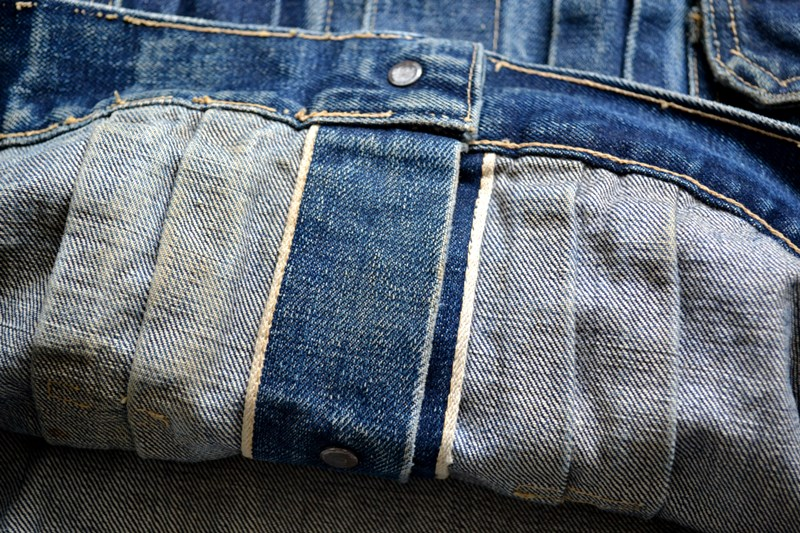 vintage levi's jeans 507XX denim long john blog type 2 original authentic usa american patch workwear rock and roll button #0 selvage selvedge redline worn-out washed (10)