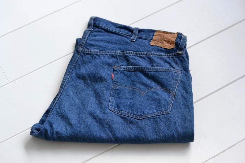 vintage levis jeans long john blog original shrink to fit size 54 usa redline selvage selvedge indigo blue america levi strauss  (2)