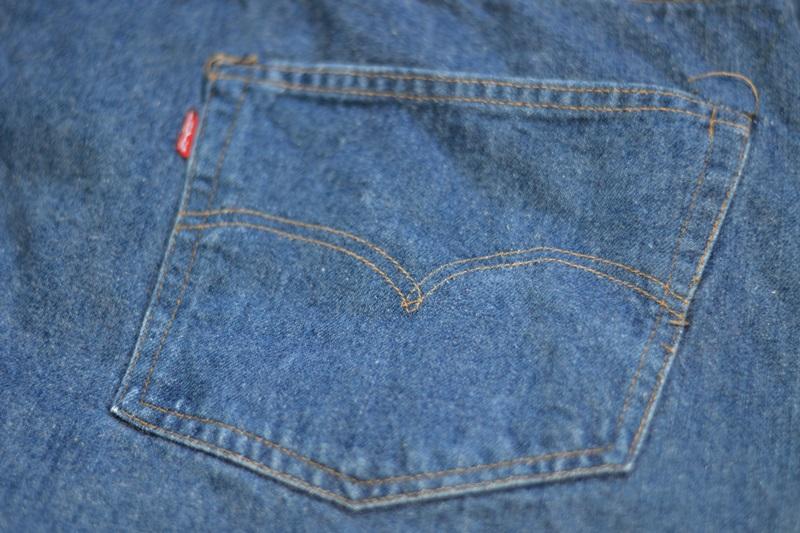vintage levis jeans long john blog original shrink to fit size 54 usa redline selvage selvedge indigo blue america levi strauss  (4)