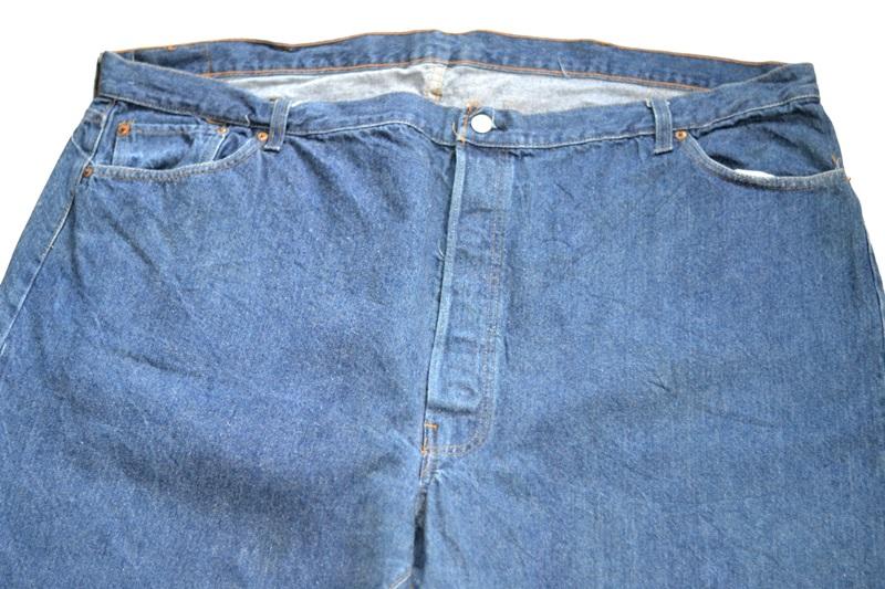 vintage levis jeans long john blog original shrink to fit size 54 usa redline selvage selvedge indigo blue america levi strauss  (6)