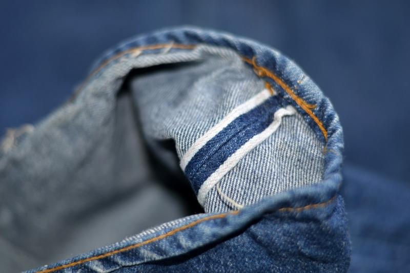 vintage levis jeans long john blog original shrink to fit size 54 usa redline selvage selvedge indigo blue america levi strauss  (7)
