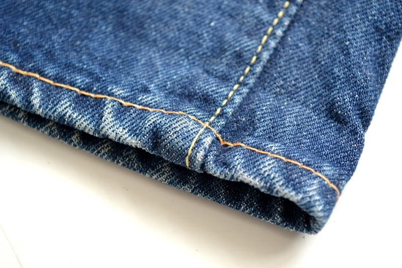 vintage-levis-levis-big-e-kids-toddler-jeans-denim-long-john-blog-bige-zipper-talon-24-snap-button-selvage-selvedge-single-stitched-baby-1960-original-usa-made-lemon-tabacco-11