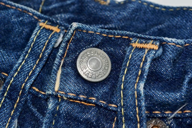 vintage-levis-levis-big-e-kids-toddler-jeans-denim-long-john-blog-bige-zipper-talon-24-snap-button-selvage-selvedge-single-stitched-baby-1960-original-usa-made-lemon-tabacco-8