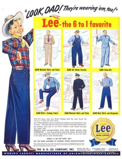 vintage old long john blog lee jeans advertsing ads campagne jeans denim selvage selvedge blue rigid raw blauw spijkerbroek advertentie usa american workwear (6)