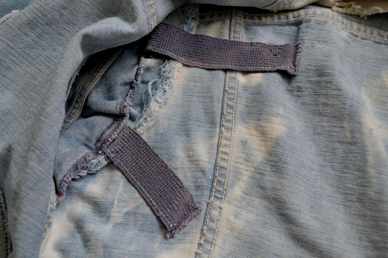 wrangler 8mz jacket long john blog jeans denim 8oz left hand fabric golden yellow selvage selvedge zipper one breast pocket usa blue bell 1951 (11)