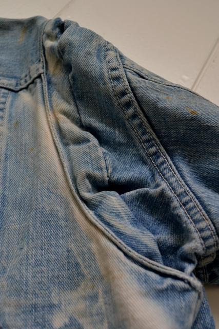 wrangler 8mz jacket long john blog jeans denim 8oz left hand fabric golden yellow selvage selvedge zipper one breast pocket usa blue bell 1951 (19)