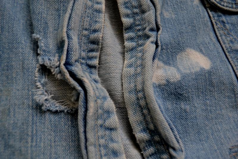 wrangler 8mz jacket long john blog jeans denim 8oz left hand fabric golden yellow selvage selvedge zipper one breast pocket usa blue bell 1951 (8)