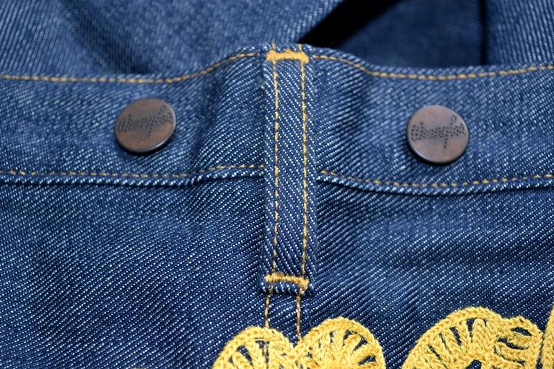 wrangler blue bell champion pants long john blog rodeo clown jeans denim deadstock non-selvage left hand fabric blue indigo usa western (1)