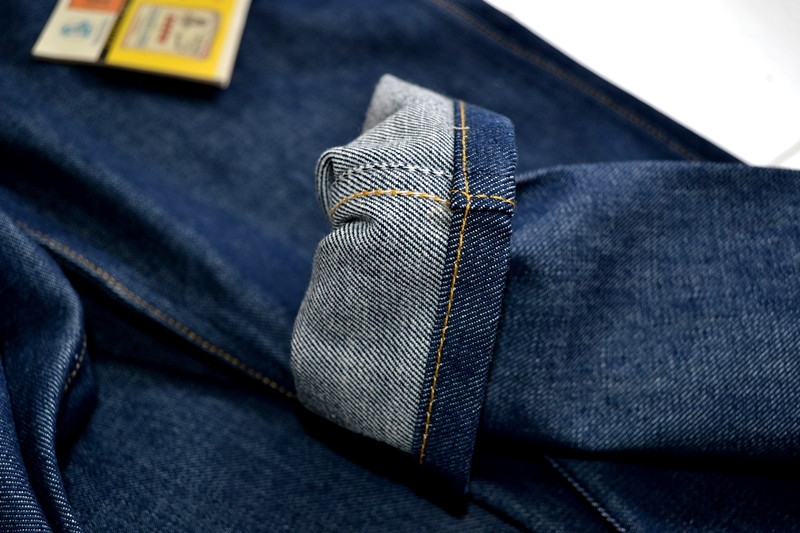 wrangler blue bell champion pants long john blog rodeo clown jeans denim deadstock non-selvage left hand fabric blue indigo usa western (11)