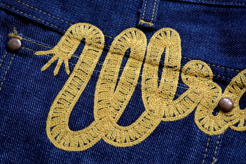 wrangler blue bell champion pants long john blog rodeo clown jeans denim deadstock non-selvage left hand fabric blue indigo usa western (16)