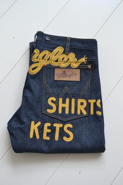 wrangler blue bell champion pants long john blog rodeo clown jeans denim deadstock non-selvage left hand fabric blue indigo usa western (2)