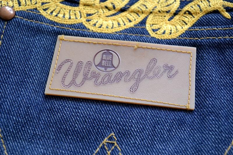 wrangler blue bell champion pants long john blog rodeo clown jeans denim deadstock non-selvage left hand fabric blue indigo usa western (4)
