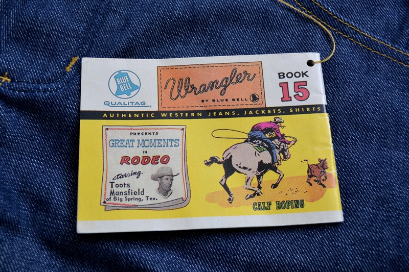 wrangler blue bell champion pants long john blog rodeo clown jeans denim deadstock non-selvage left hand fabric blue indigo usa western (6)