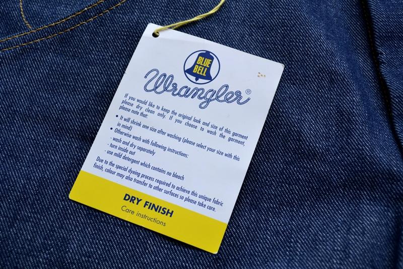 wrangler blue bell champion pants long john blog rodeo clown jeans denim deadstock non-selvage left hand fabric blue indigo usa western (7)