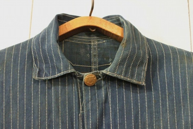 1920 stiffel railroad jacket vintage long john blog clothing treasure hunting japan used worn-out blue old train authentic rare  (12)