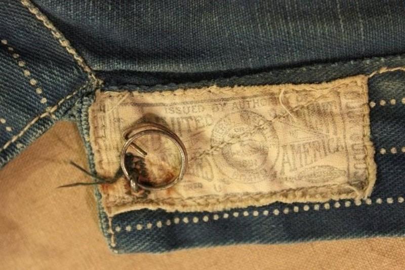 1920 stiffel railroad jacket vintage long john blog clothing treasure hunting japan used worn-out blue old train authentic rare  (13)