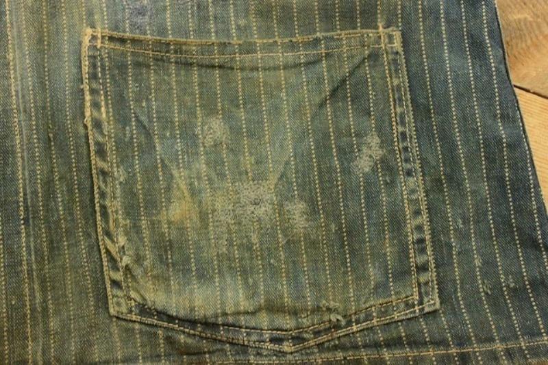 1920 stiffel railroad jacket vintage long john blog clothing treasure hunting japan used worn-out blue old train authentic rare  (14)