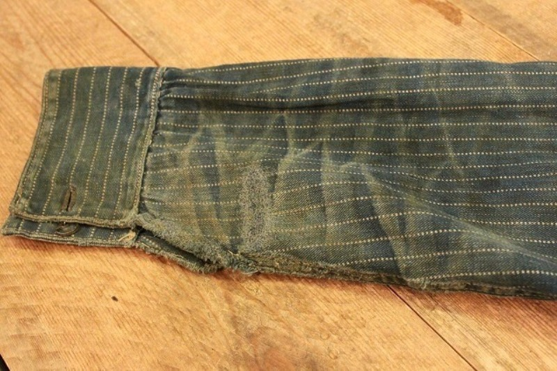 1920 stiffel railroad jacket vintage long john blog clothing treasure hunting japan used worn-out blue old train authentic rare  (15)