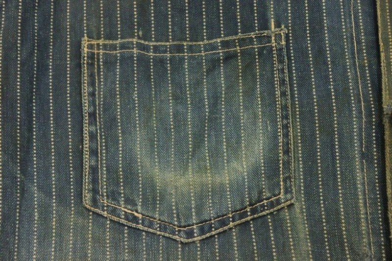 1920 stiffel railroad jacket vintage long john blog clothing treasure hunting japan used worn-out blue old train authentic rare  (3)