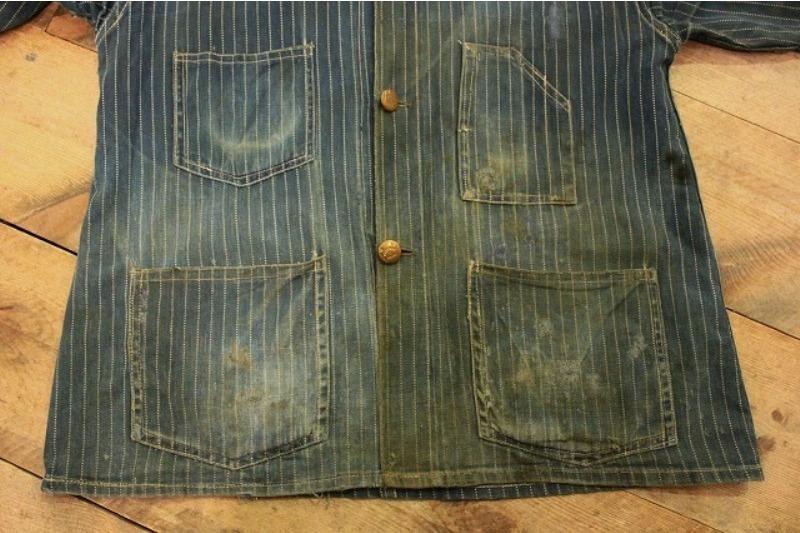 1920 stiffel railroad jacket vintage long john blog clothing treasure hunting japan used worn-out blue old train authentic rare  (4)