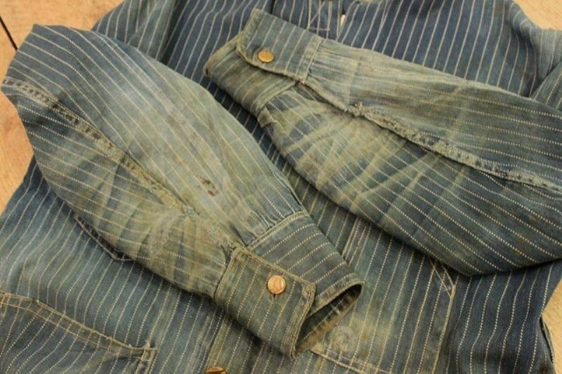 1920 stiffel railroad jacket vintage long john blog clothing treasure hunting japan used worn-out blue old train authentic rare  (6)