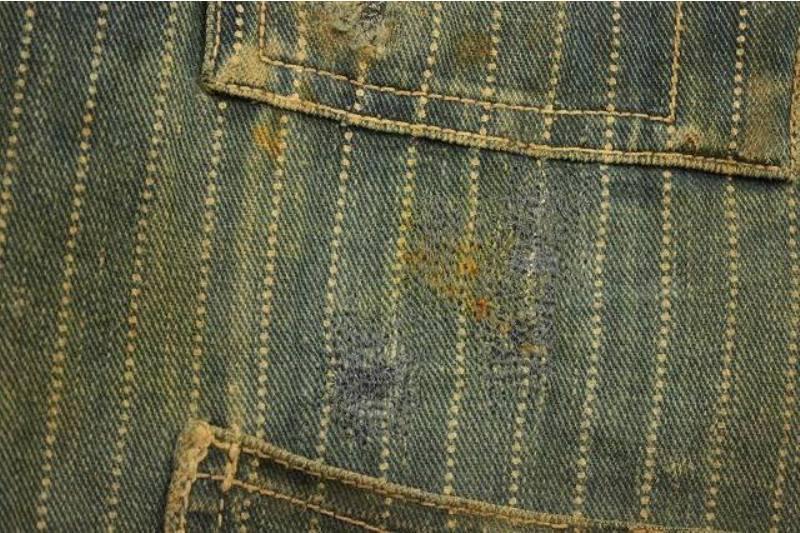 1920 stiffel railroad jacket vintage long john blog clothing treasure hunting japan used worn-out blue old train authentic rare  (8)