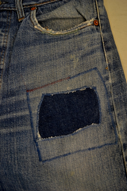 Amsterdam denim days long john blog teaser wouter munnichs denim jeans antonio di battista private collection deadstock selvage levi's lee wrangler selvedge worn-out old destroyed blue rigid raw red tab big e  (12)
