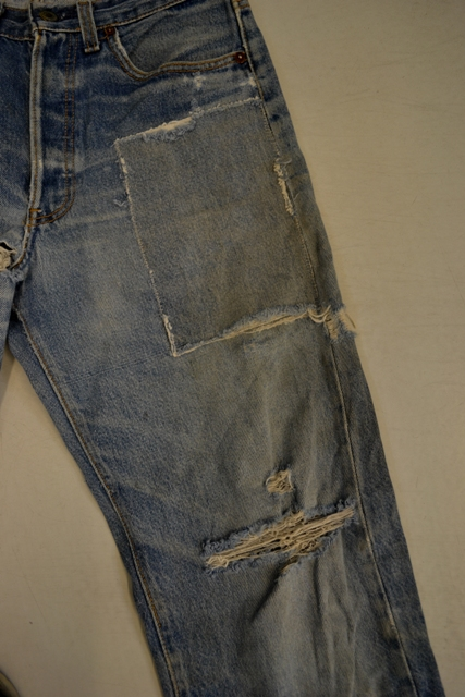 Amsterdam denim days long john blog teaser wouter munnichs denim jeans antonio di battista private collection deadstock selvage levi's lee wrangler selvedge worn-out old destroyed blue rigid raw red tab big e  (4)