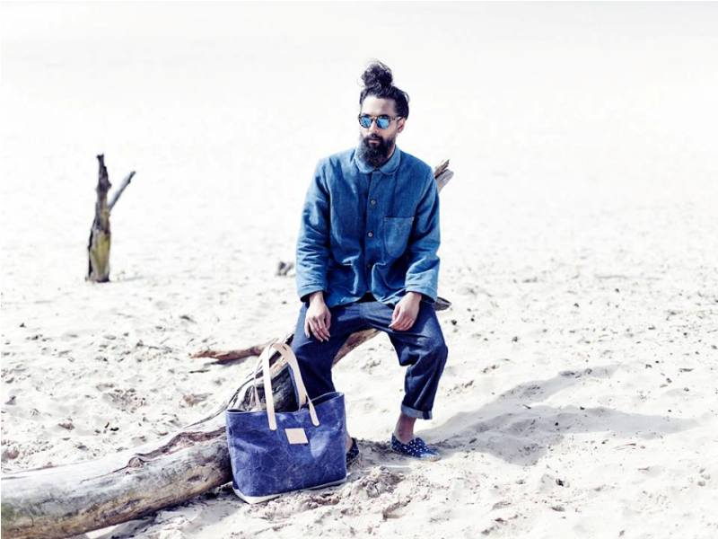 Atelier de L'Armee long john blog spring summer 2014 lookbook joost doeswijk elza wandler handmade totebags japan sashiko holland amsterdam blue raw selvage selvedge rigid unwashed  (3)