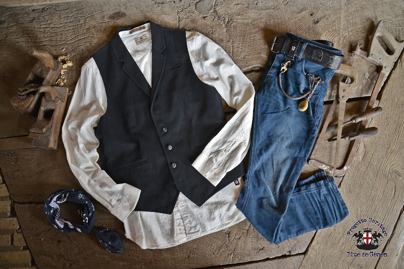 Blue de Gênes from Denmark developed a classic five pocket which is loaded with rich details. The jeans model is called 'Repi', named after Renzo Piano which is an Italian architect from Genoa. (Genoa i (514)
