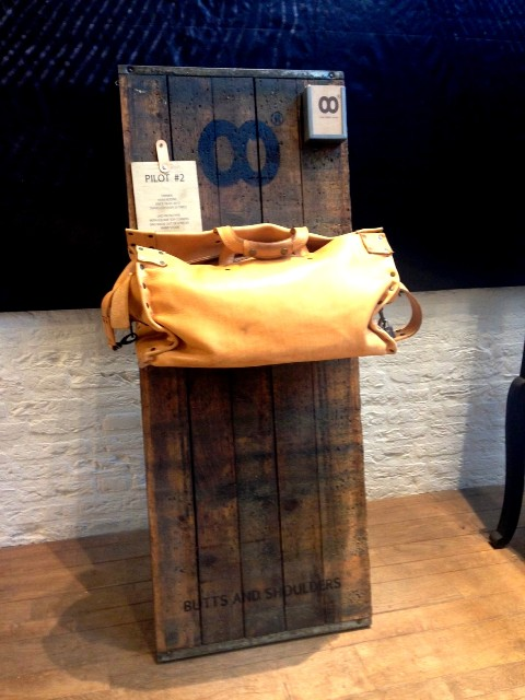 Butts and Shoulders x Westside store den bosch long john blog natural tanned leather winkel shop bags worker travel post cows handmade holland pop-up shop in shop ageing aged worn (11)