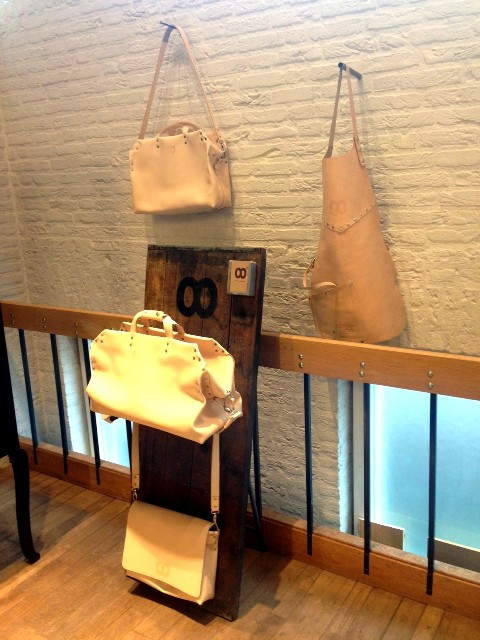 Butts and Shoulders x Westside store den bosch long john blog natural tanned leather winkel shop bags worker travel post cows handmade holland pop-up shop in shop ageing aged worn (12)