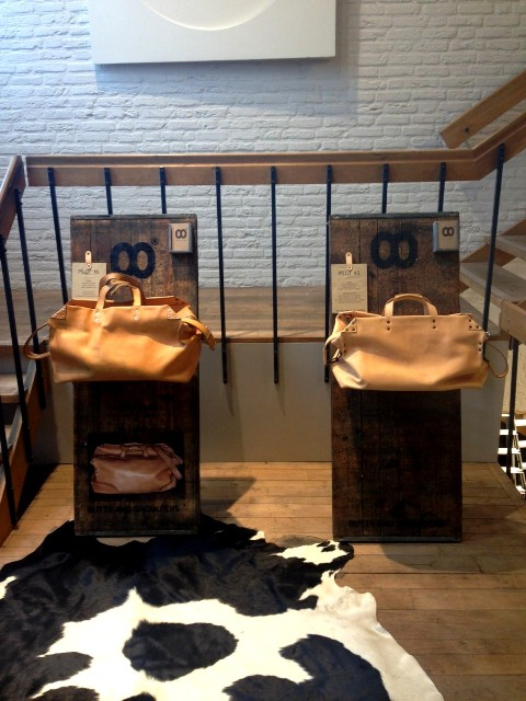 Butts and Shoulders x Westside store den bosch long john blog natural tanned leather winkel shop bags worker travel post cows handmade holland pop-up shop in shop ageing aged worn (9)