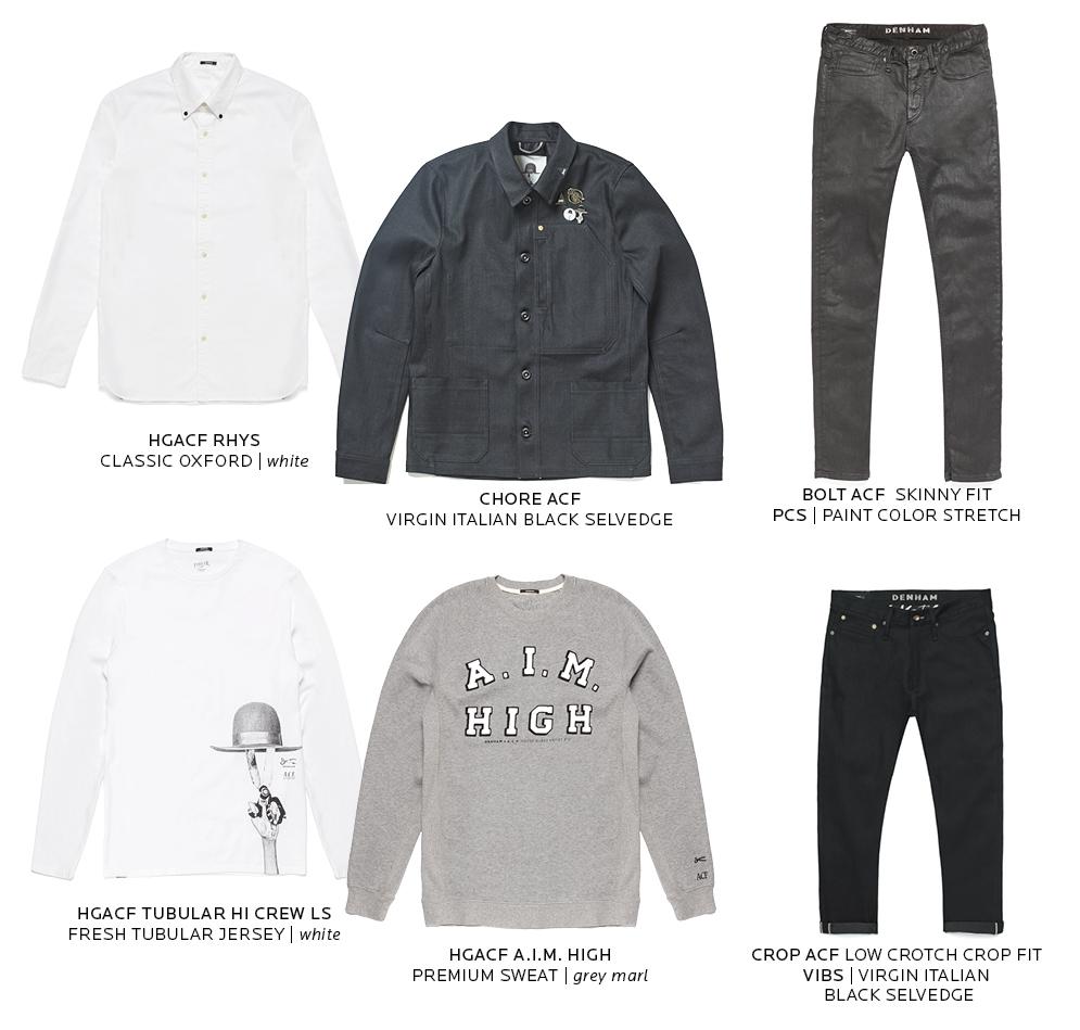 Denham Jeans x Art Comes First (ACF) Collaboration long john blog jeans denim collab london amsterdam black blue indigo special limited edition (4)