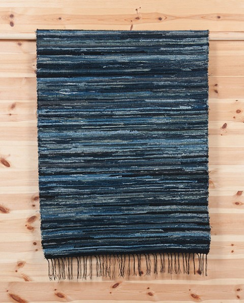 Handmade Denim Rag Rug By Denim Demon Jeans (Sweden