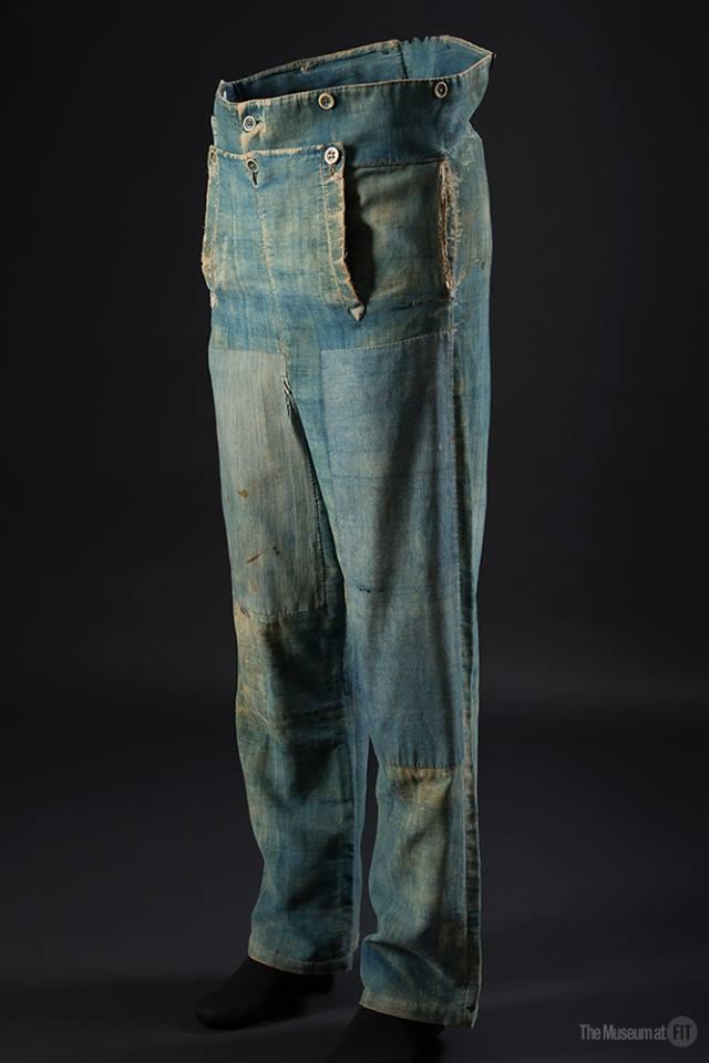Denim Fashion Frontier, emma mcclendon long john blog jeans denim authentic workwear 1840 old vintage museum collector item pateched repair (4)